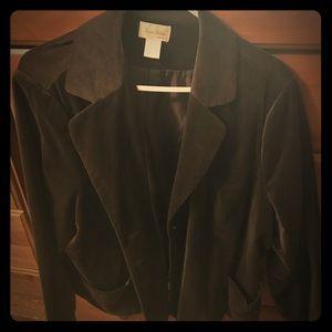Chocolate brown velvet corduroy blazer